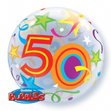 50th Brilliant Stars Bubble Balloon